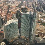 Torre Unicredit dall'elicottero