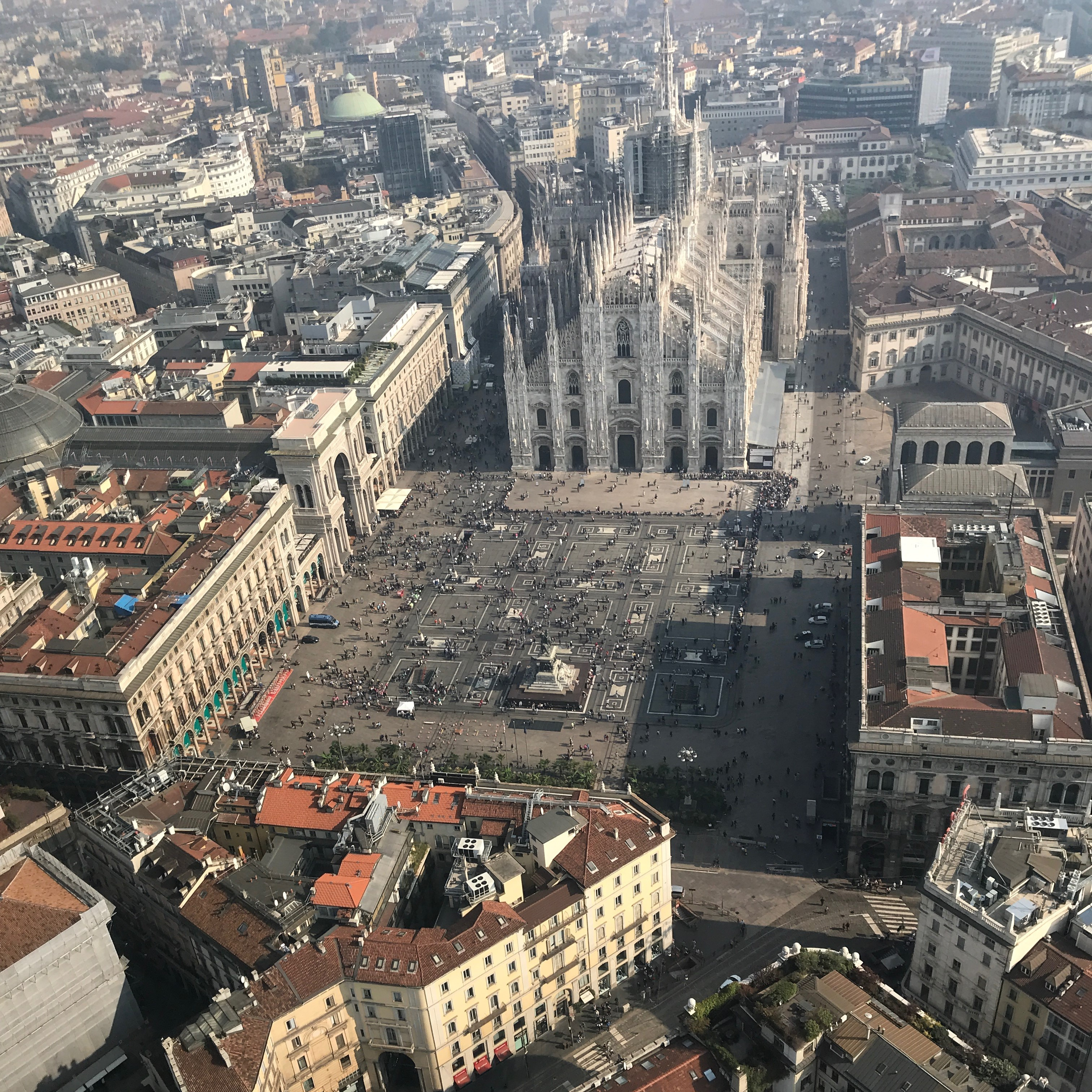 Duomo dall'elicottero