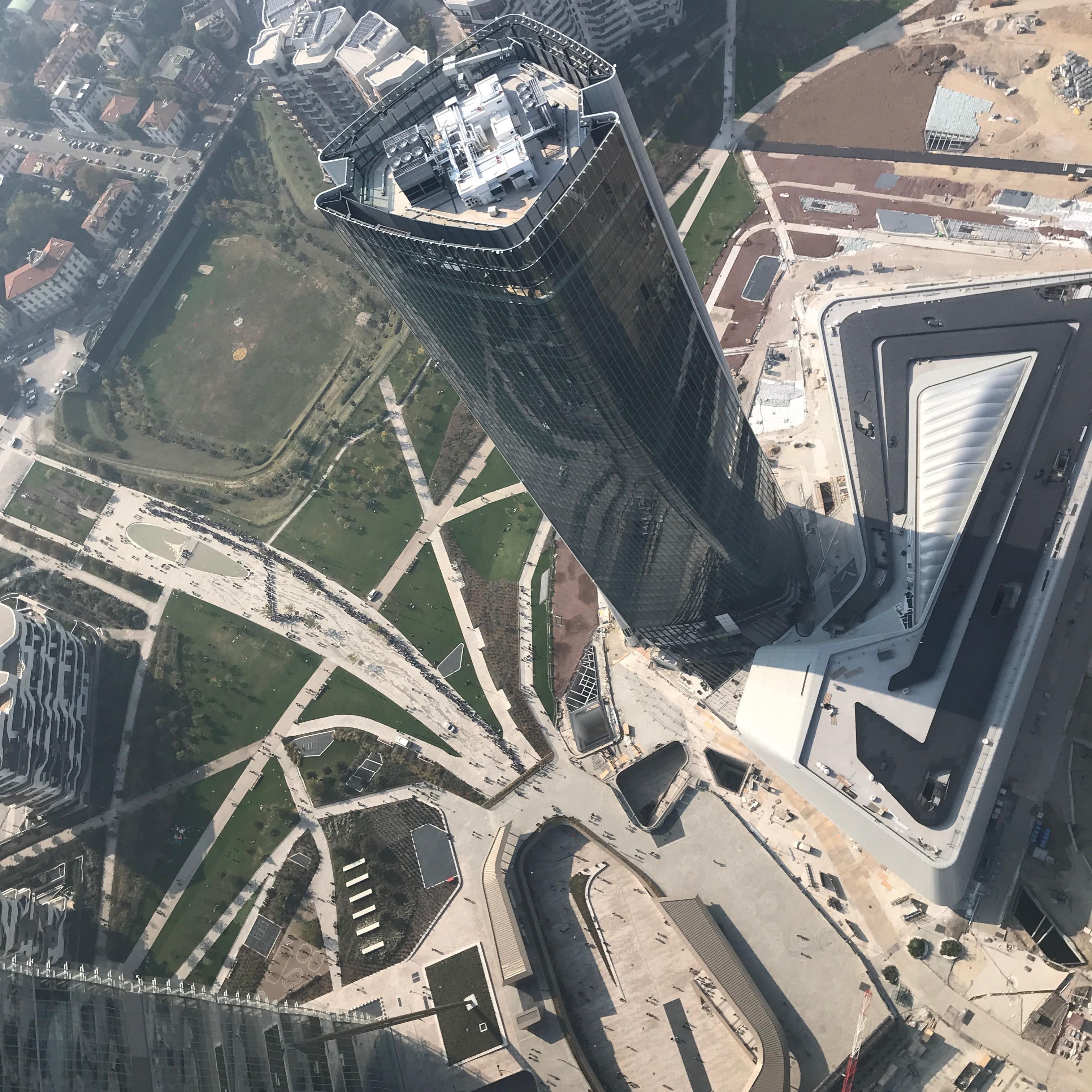 Torre Generali dall'elicottero